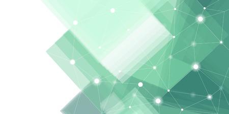 Vecteur de fond de technologie futuriste vert et blanc