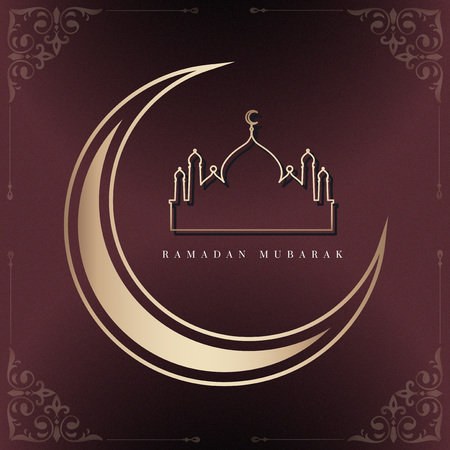 Ramadan Mubarak card design vector illustration