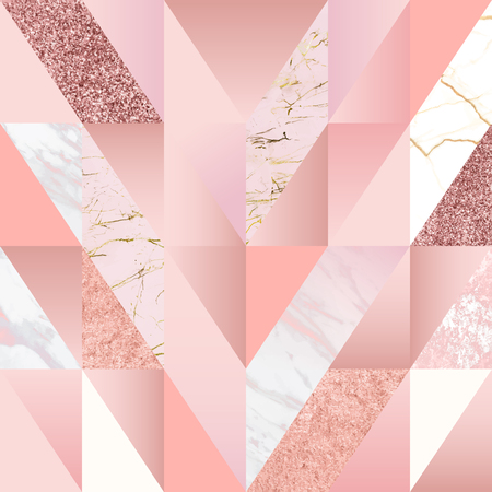 Pink feminine geometric background vector Ilustracja