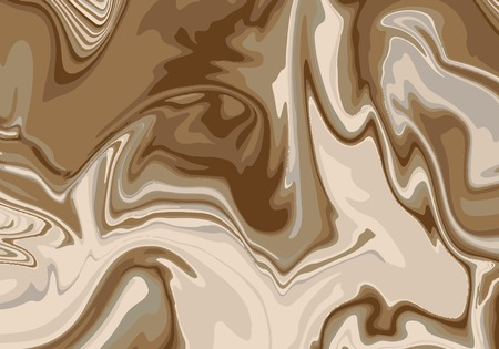 Marble abstract brown paint texture background vector illustration Stock Illustratie