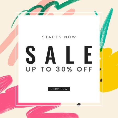 Memphis design with summer sale vector Иллюстрация