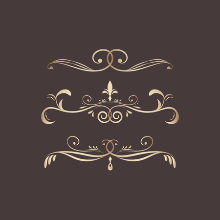 Decorative calligraphic ornaments vector set Illustration