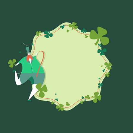 St. Patrick's Day celebration badge vector