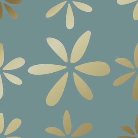 Gold botanical pattern background vector Ilustrace