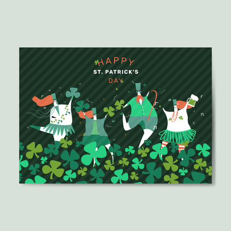 Happy St. Patrick's Day greeting card vector illustration Standard-Bild - 121951472
