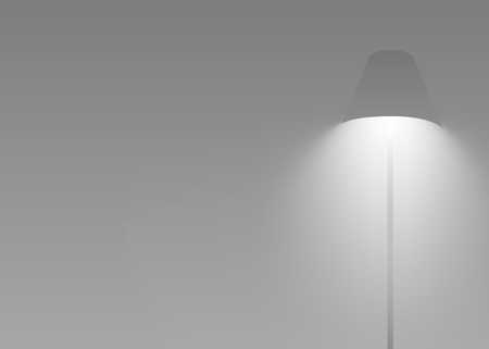Gray lamp glowing and shining vector