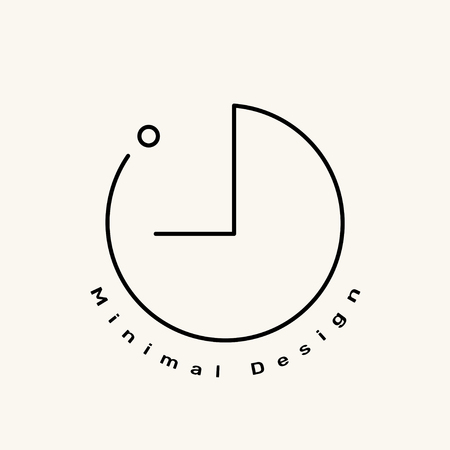 Minimales Markenlogo auf einer cremefarbenen Hintergrundvektorillustration