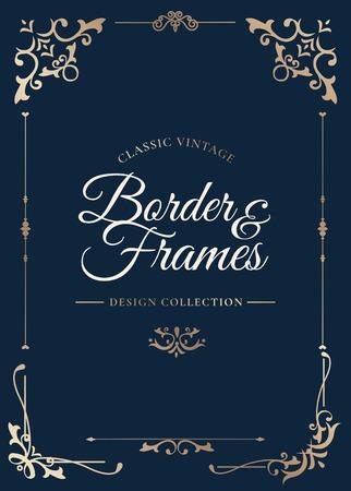 Vintage border and frames vector illustration
