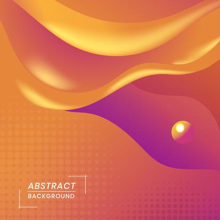 Orange abstract background design vector Vetores