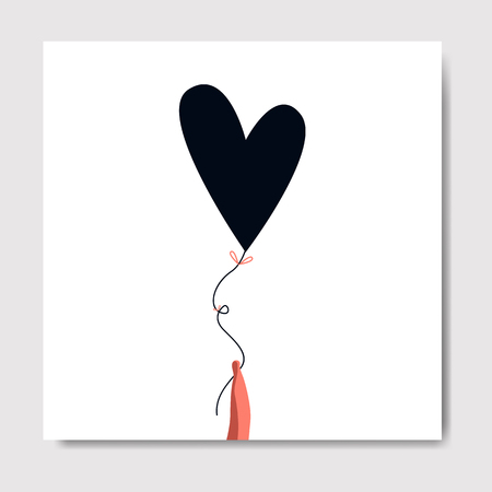 Valentine's Day character with a heart balloon vector