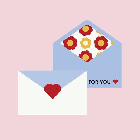 For you love letter vector illustration Stock Illustratie