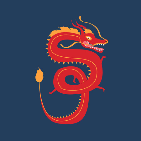 Year of the dragon vector illustration