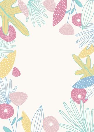 Natural patterned doodle background vector illustration Vektorové ilustrace