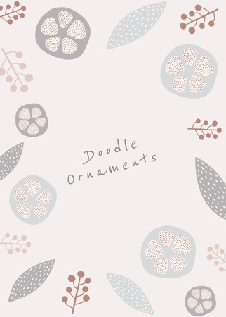 Natural patterned doodle background vector illustration Ilustrace