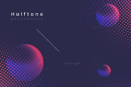 Geometric halftone navy blue background vector 写真素材 - 122628552