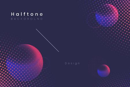 Geometric halftone navy blue background vector