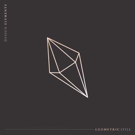 Linear geometric diamond design vector illustration Stockfoto - 121951527