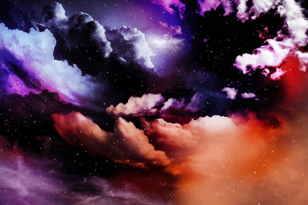 Colorful abstract universe textured background vector Vectores