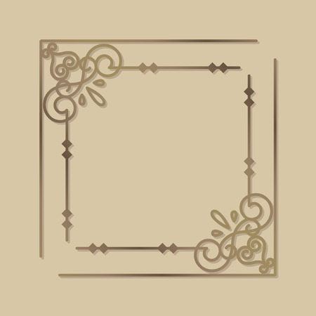 Vintage border design element vector illustration Illustration
