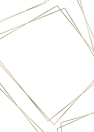 Golden rhombus frame template vector illustration