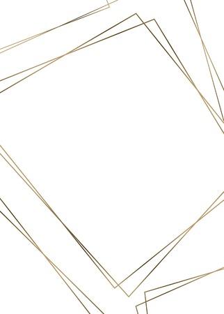 Golden rhombus frame template vector illustration Foto de archivo - 121951608