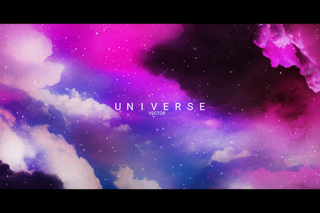 Colorful abstract universe textured background vector Illustration