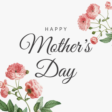 Happy Mother's Day card vector Illustration