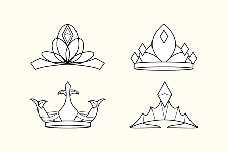Luxurious royal crown designs vector collection Imagens - 121951634