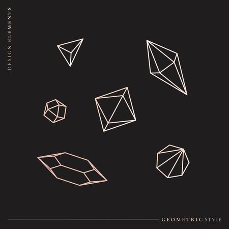 Geometric diamond design collection vector illustration