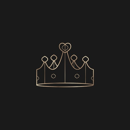 Luxurious black crown design vector illustration
