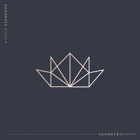 Luxuriöse geometrische Kronendesign-Vektorillustration