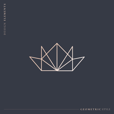 Luxurious geometric crown design vector illustration