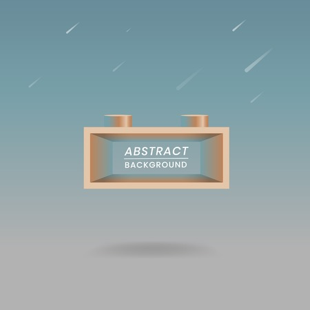 Abstract geometric rectangle shape vector