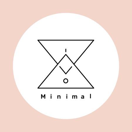 Minimal logo design on a nude background vector illustration