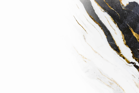 Black and white marble background vector