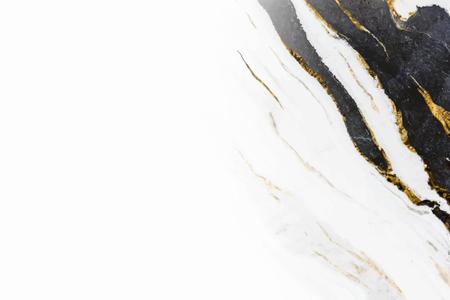 Vecteur de fond de marbre noir et blanc Vecteurs