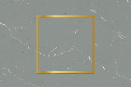 Golden framed square on a marble textured vector 일러스트