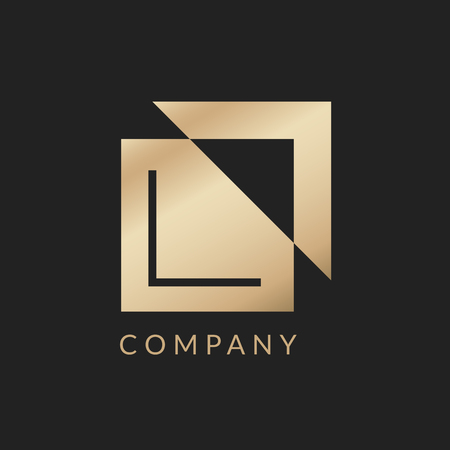 Company branding logo design vector illustration