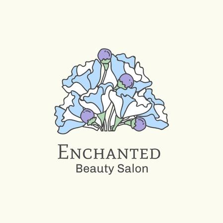 Enchanted beauty salon logo vector illustration Banque d'images - 121951690