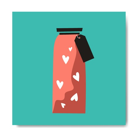 Bottle of love on Valentine's Day vector 스톡 콘텐츠 - 122628642