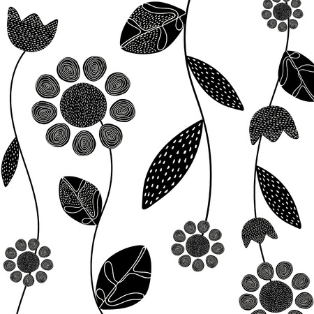 Hand drawn plant element doodles vector