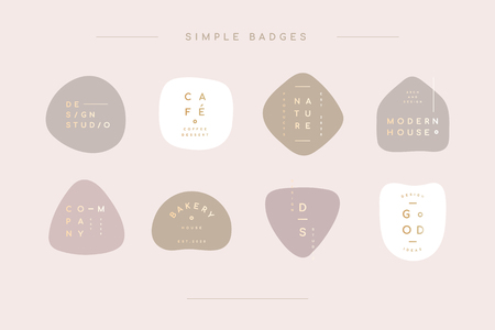 Simple pastel minimal badge collection vector illustration Ilustração