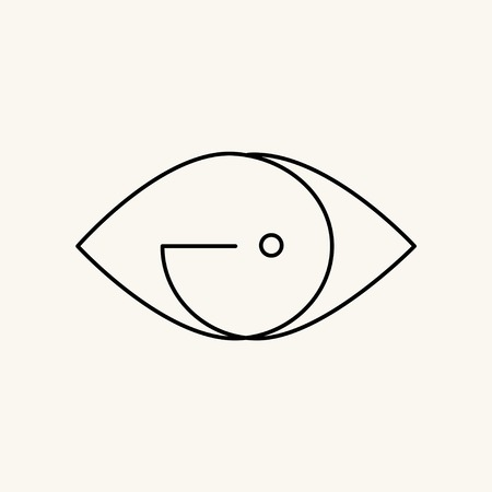 Minimal brand logo on a cream background vector illustration