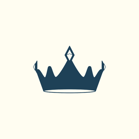 Blue luxurious crown design vector illustration