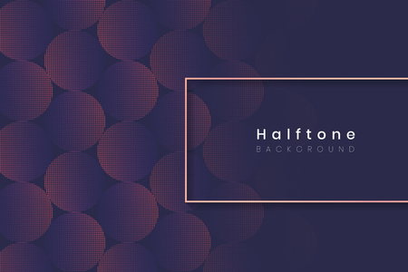 Rectangle frame on halftone navy blue background vector illustration Vettoriali