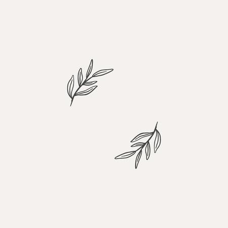 Leaf framed border element vector illustration Illustration