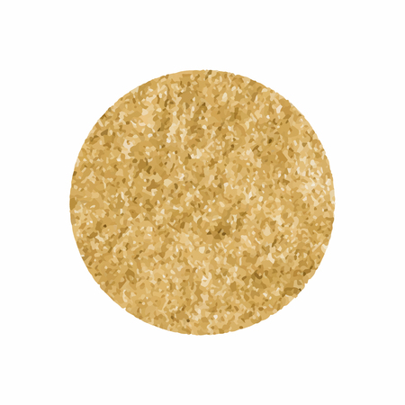 Round shimmery gold badge vector illustration Иллюстрация