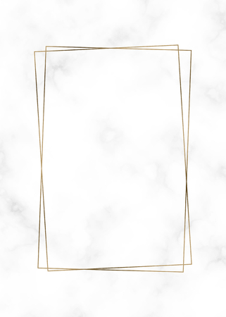 Golden rectangle frame template vector illustration