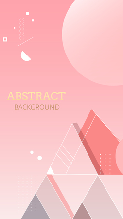 Pink geometric abstract background vector illustration