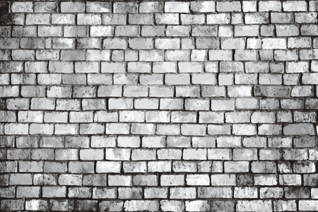 Rustic gray brick textured background vector Vettoriali